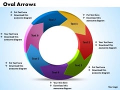 Ppt Oval 3d Arrows PowerPoint 7 Points Templates