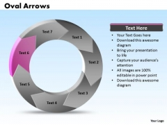 Ppt Oval Arrows PowerPoint Slide Text 7 Parts Templates