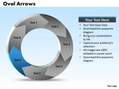 Ppt Oval Shapes Arrows PowerPoint 7 Key Points Templates