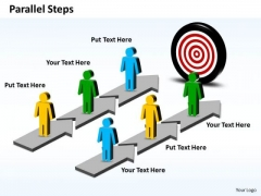 Ppt Parallel Steps Plan To Achieve Goal Business Management PowerPoint Business Templates