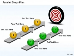 Ppt Parallel Steps Plan Toward Meeting The Goal Business PowerPoint Templates