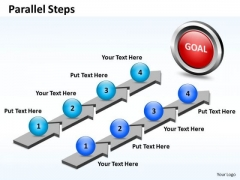 Ppt Parallel Steps Working With Slide Numbers For Plan Of Action Business PowerPoint Templates