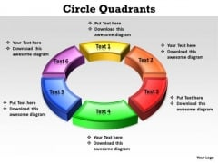 Ppt Parts Of Circle PowerPoint For Kids Games Quadrants 6 Points Templates