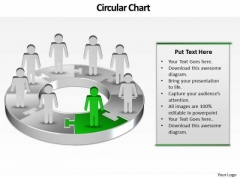 Ppt Pie Family Tree Chart PowerPoint 2003 Person Standing Green Piece Templates