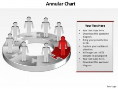 Ppt Pie Gantt Chart PowerPoint Template Person Standing Red Piece Templates