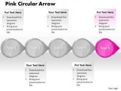 Ppt Pink Arrow Process Flow PowerPoint Template Chart Templates