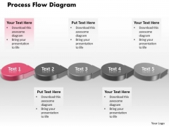 Ppt Pink Circle Arrow Process Flow Network Diagram PowerPoint Template Templates