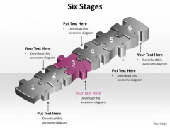 Ppt Pink Puzzle Step PowerPoint Presentation Tips Diagrams Templates