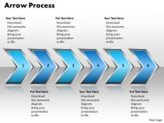 Ppt Pointing Curved Arrow Forging Process PowerPoint Slides 6 State Diagram Templates