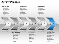 Ppt Pointing Even Arrow Forging Process PowerPoint Slides 6 Stage Templates
