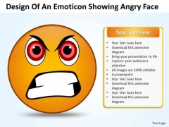 Ppt PowerPoint Design Download Of An Emoticon Showing Angry Face Templates