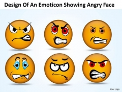 Ppt PowerPoint Design Download Of An Emoticon Showing Angry Faces Templates