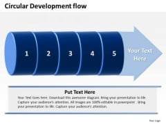 Ppt PowerPoint Presentation Circular Flow Of 5 Steps Involved Development Templates