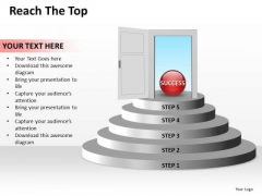 Ppt PowerPoint Slide Numbers To Reach The Top Editable Buisness Templates