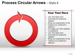 Ppt Process Circular Arrows PowerPoint Graphics Slides