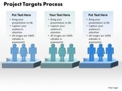 Ppt Project Targets Definition Process 3 Stages PowerPoint Templates