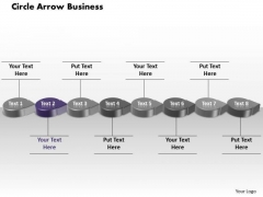 Ppt Purple Circular Arrow Business PowerPoint Theme Transactions Diagram Templates