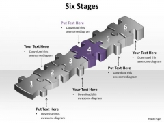 Ppt Purple Puzzle Step PowerPoint Templates