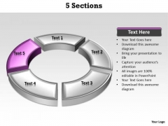Ppt Purple Section Highlighted In PowerPoint Presentation Circular Manner Templates