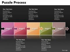 Ppt Puzzle Forging Process PowerPoint Slides Business Flow Chart Templates