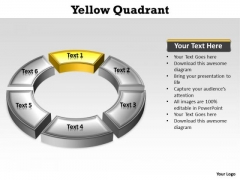 Ppt Quadrant 1 Yellow Circular Family Tree Chart PowerPoint 2003 Templates