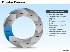 Ppt Recycle Writing Process PowerPoint Presentation Circular Manner Stage 6 Templates