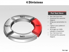 Ppt Red Division Illustrating Second Issue PowerPoint Templates