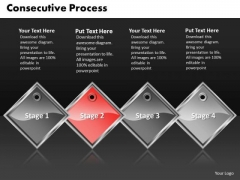 Ppt Red PowerPoint Theme Diamond Consecutive Course 4 Create Macro Templates