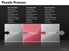 Ppt Red Stage Multicolor Puzzle Writing Process PowerPoint Presentation Templates