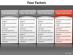 Ppt Red Table Listing Its Factors Components PowerPoint Templates