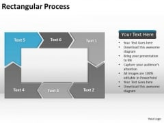 Ppt Reinforcing Blue Arrow Rectangular Process Diagram PowerPoint Free Templates