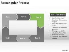 Ppt Reinforcing Go Green PowerPoint Templates Arrow Rectangular Process Diagram