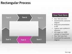 Ppt Reinforcing Pink Arrow Rectangular Process Diagram PowerPoint Templates
