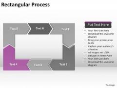 Ppt Reinforcing Purple Arrow Rectangular Process Diagram PowerPoint Templates