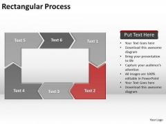 Ppt Reinforcing Red PowerPoint Templates Arrow Rectangular Process Diagram