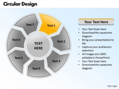Ppt Round Frame 7 Stages PowerPoint Templates