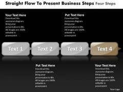 Ppt Sequence To Present Free Concept Steps Four PowerPoint Templates