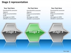 Ppt Sequential Demonstration Of Green Octagonal Arrow PowerPoint Templates
