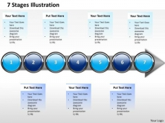 Ppt Sequential Description Of Business PowerPoint Theme Process Using 7 Stages Templates