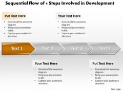 Ppt Sequential Progress Of 4 Steps Involved Development PowerPoint Templates