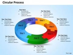Ppt Seven Steps Circular Process Flow Diagram Presentation PowerPoint Templates
