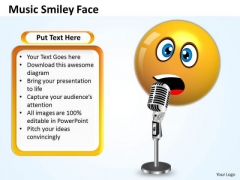 Ppt Singing Smiley Emoticon With Mike Project Management PowerPoint Templates