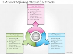 Ppt Slide 3 Arrows Defining Steps Of Process Marketing Plan