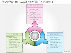 Ppt Slide 3 Arrows Defining Steps Of Process Marketing Plan