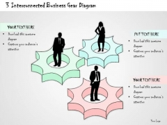 Ppt Slide 3 Interconnected Business Gear Diagram Consulting Firms