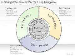Ppt Slide 3 Staged Business Circle Loop Diagram Consulting Firms