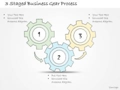 Ppt Slide 3 Staged Business Gear Process Sales Plan