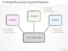 Ppt Slide 3 Staged Business Square Diagram Sales Plan