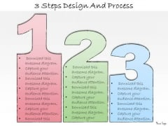 Ppt Slide 3 Steps Design And Process Sales Plan