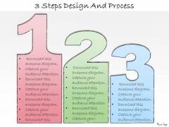 Ppt Slide 3 Steps Design And Process Sales Plan
